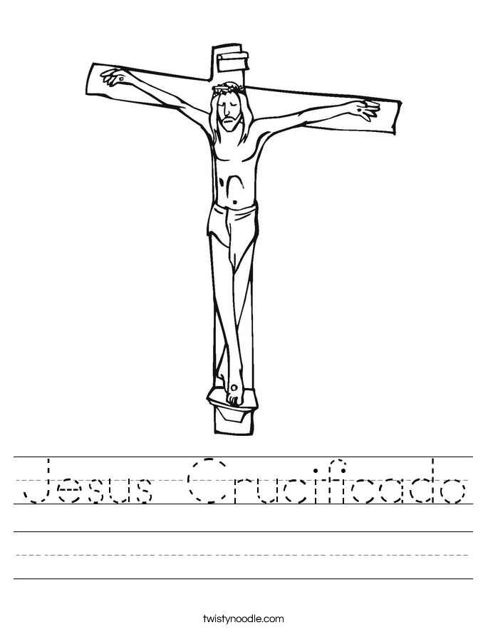 Jesus Crucificado Worksheet