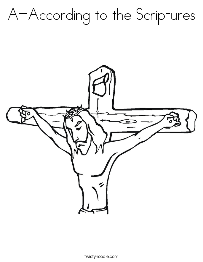 A=According to the Scriptures Coloring Page