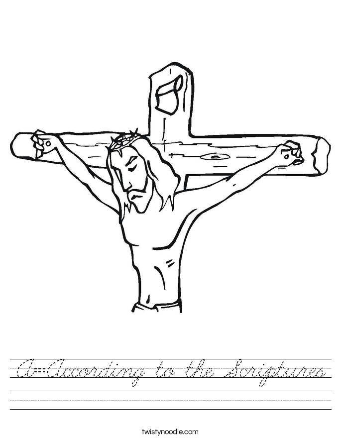 A=According to the Scriptures Worksheet
