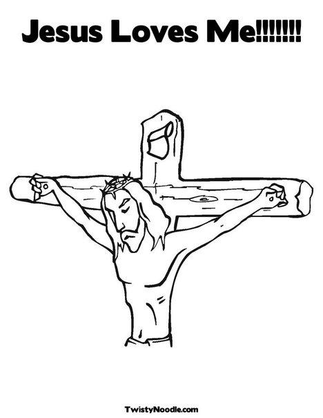 rolculpnage: coloring pages jesus loves me
