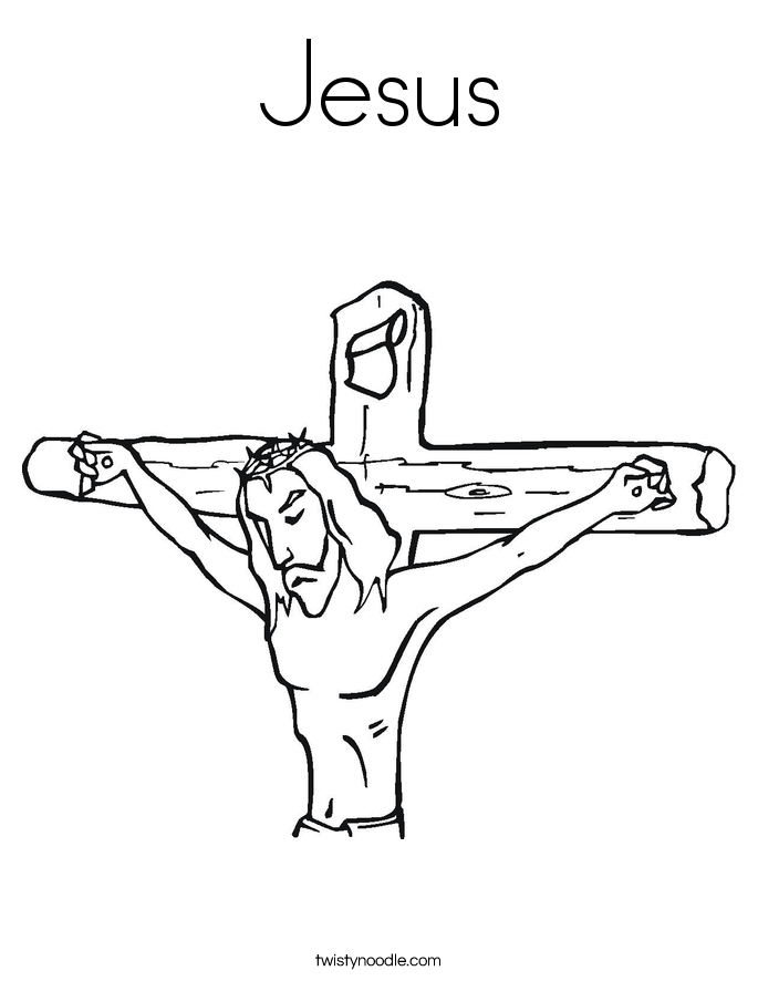 jesus cross coloring pages - photo#25