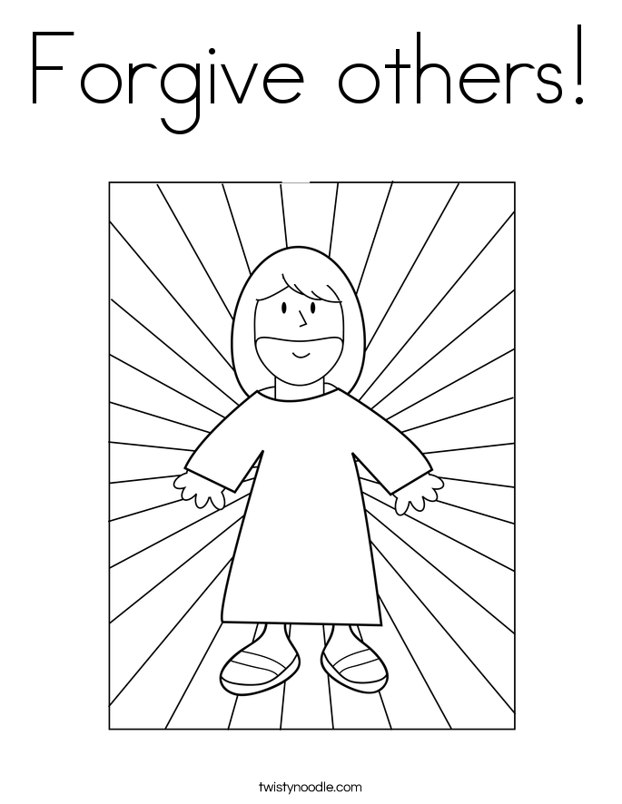 primary coloring pages forgiveness coloring pages