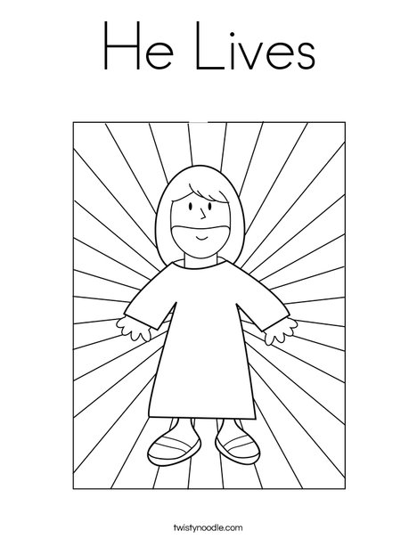 Jesus with Light Coloring Page