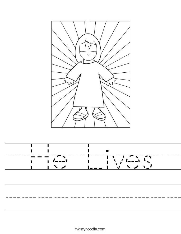 He Lives Worksheet