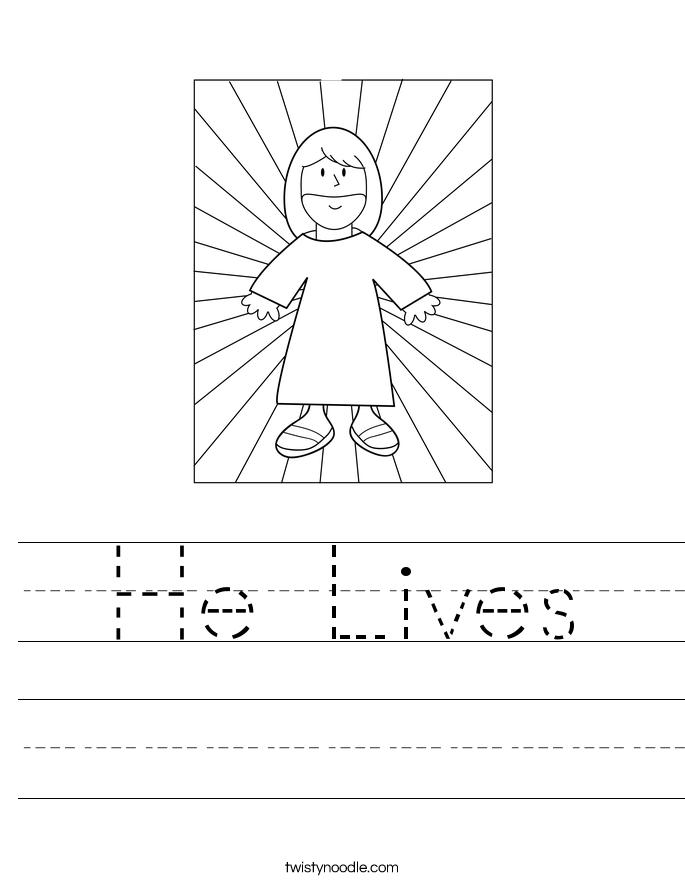 He Lives Worksheet