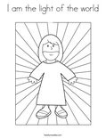 I am the light of the worldColoring Page