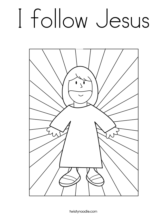 I follow Jesus Coloring Page  Twisty Noodle