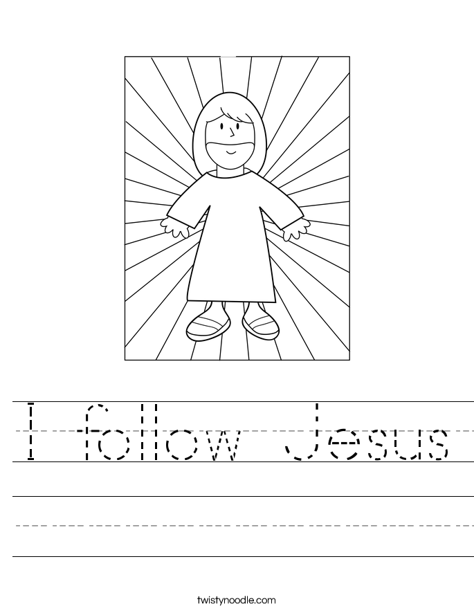 I follow Jesus Worksheet