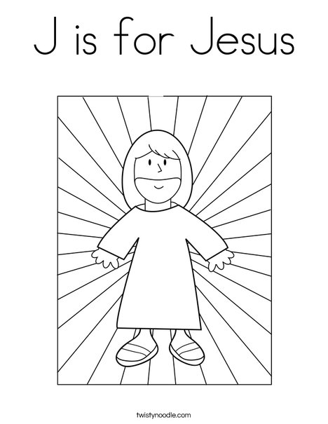 J is for Jesus Coloring Page - Twisty Noodle