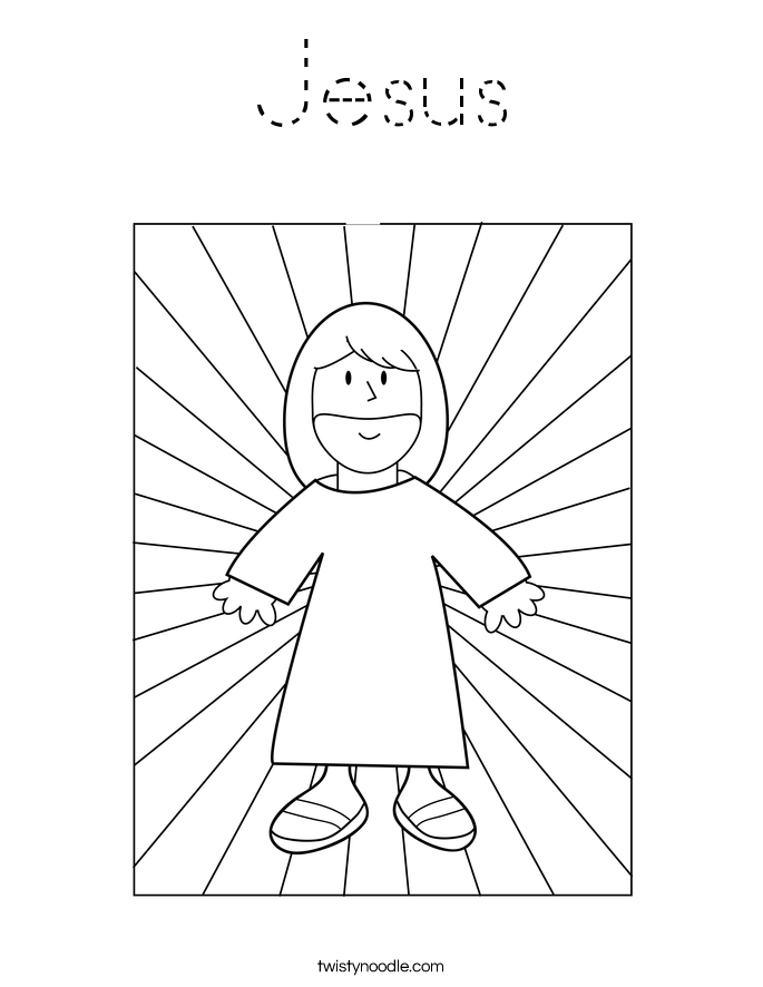 jesus coloring page - tracing