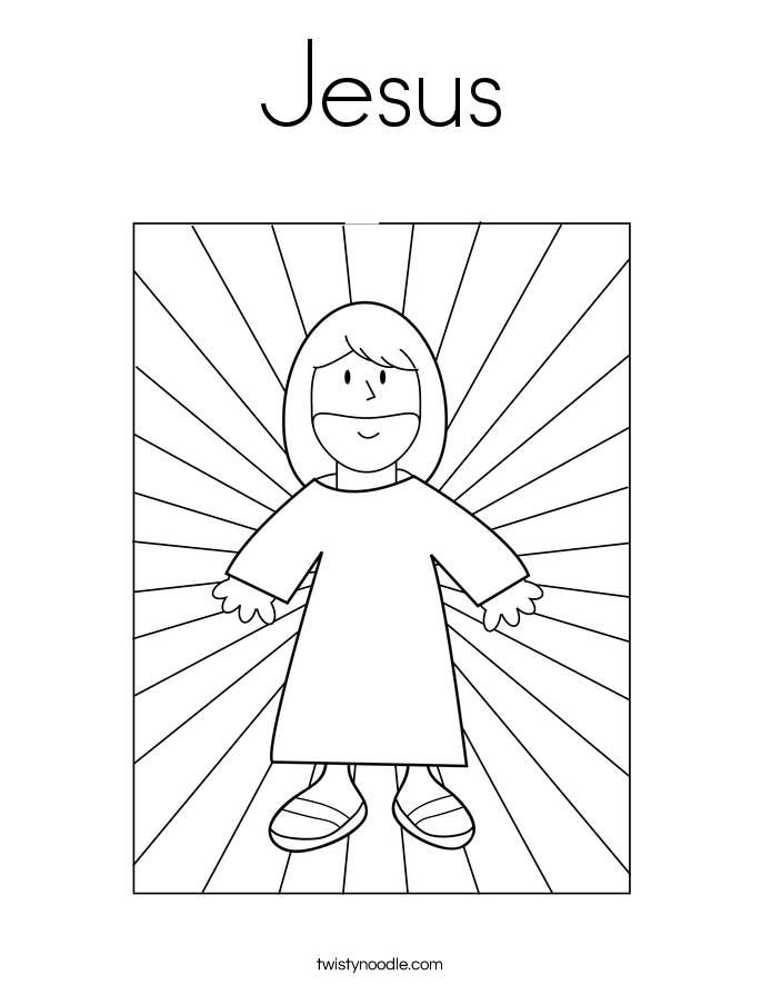 Coloring Pages Of Jesus Delectable Jesus Coloring Page  Twisty Noodle Decorating Inspiration