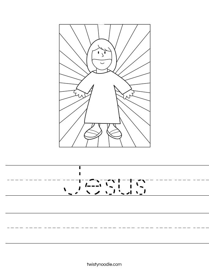 Jesus Worksheet