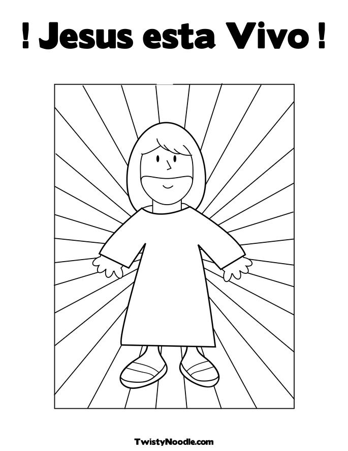 coloring pages easter jesus. Coloring Page - Jesus with