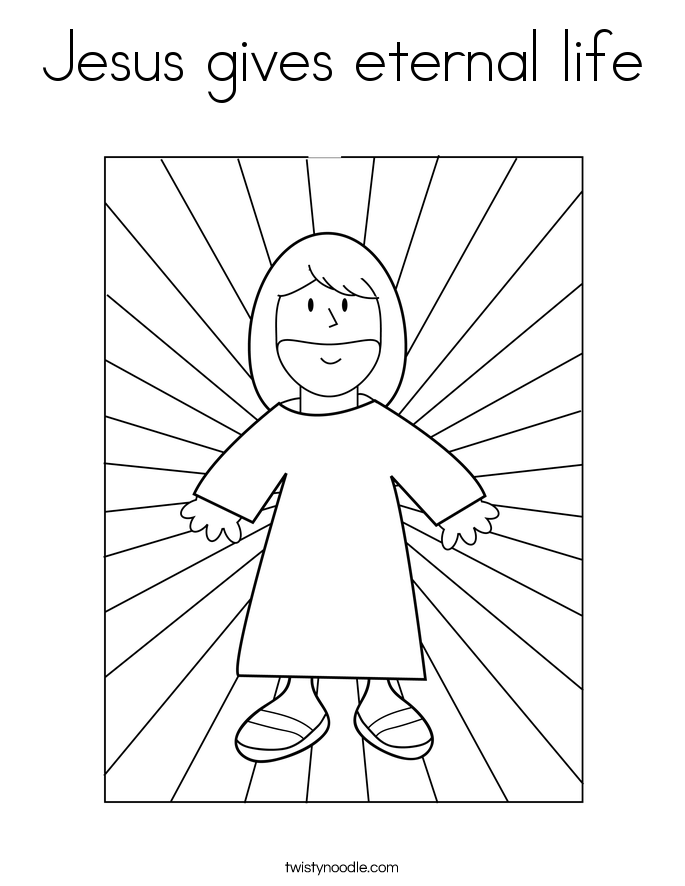 coloring pages of jesus life | Jesus gives eternal life Coloring Page - Twisty Noodle