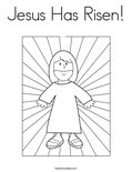 Jesus Has Risen!Coloring Page