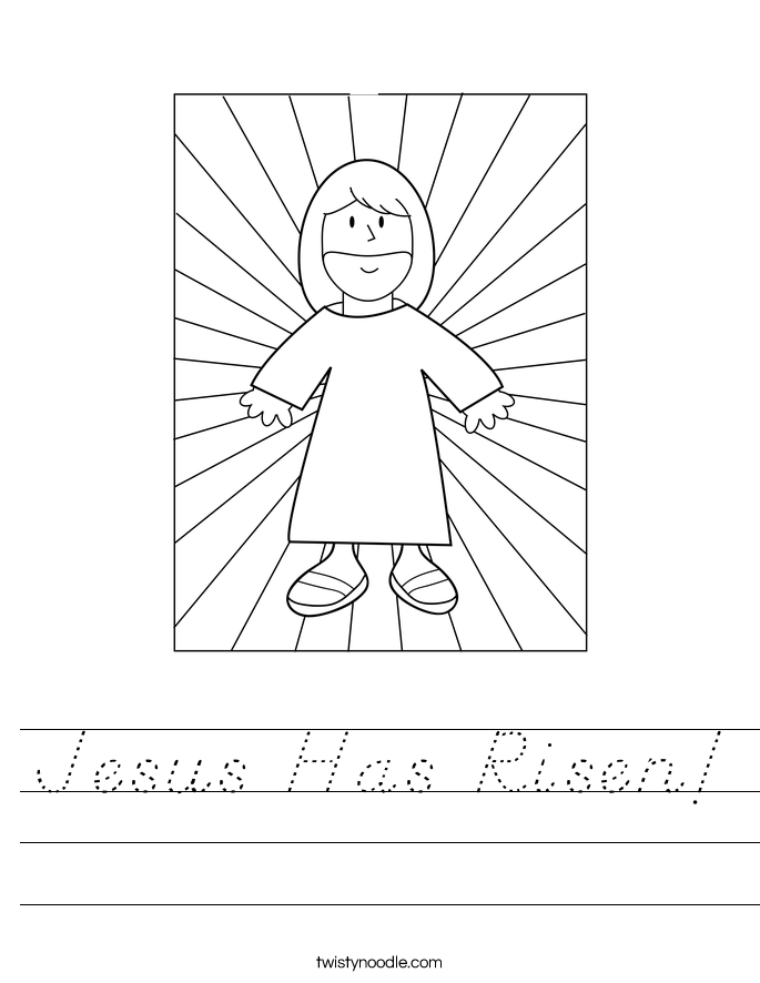 Jesus Has Risen! Worksheet