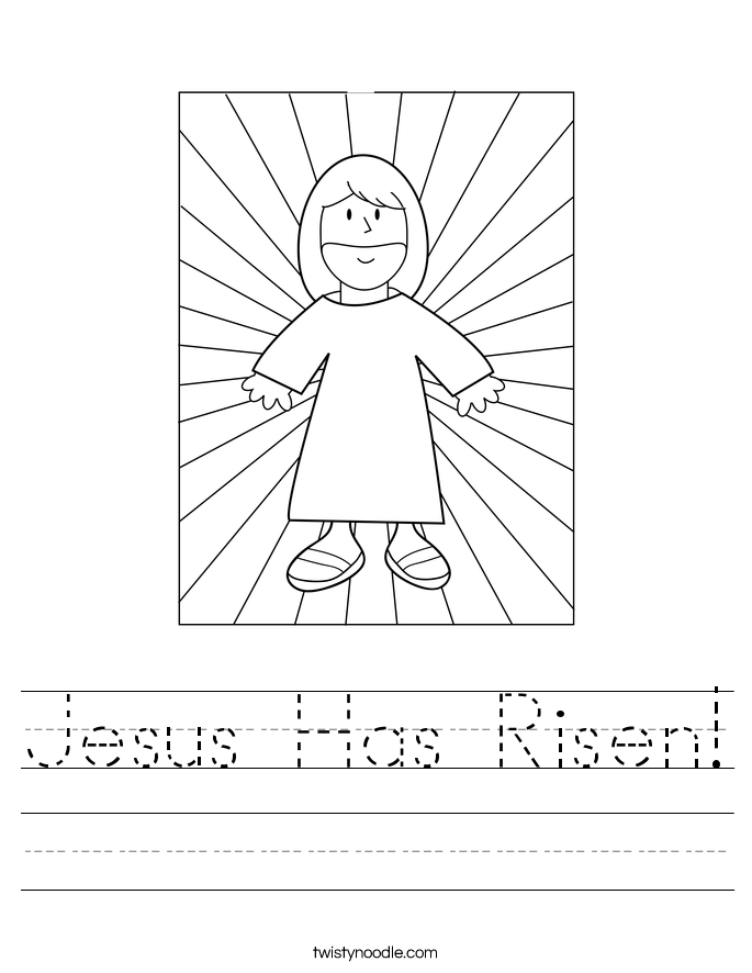 Jesus Has Risen! Worksheet