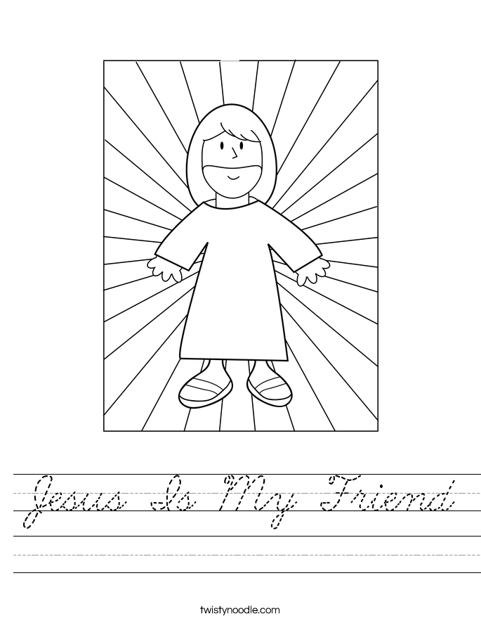 Jesus Is My Friend Worksheet