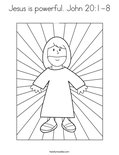 Jesus is powerful. John 20:1-8Coloring Page