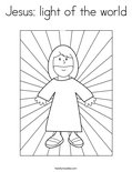 Jesus: light of the world Coloring Page