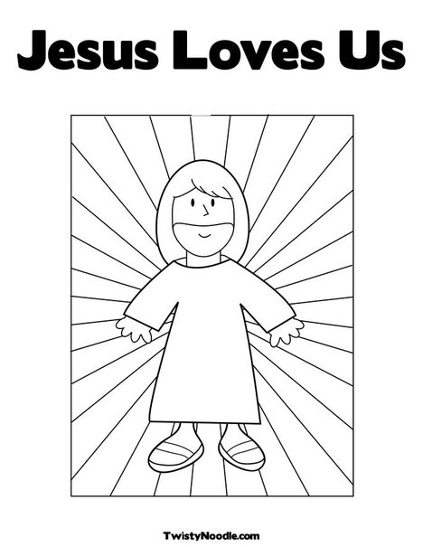 Jesus Coloring Pages Jesus Loves Me Coloring Page Quotes