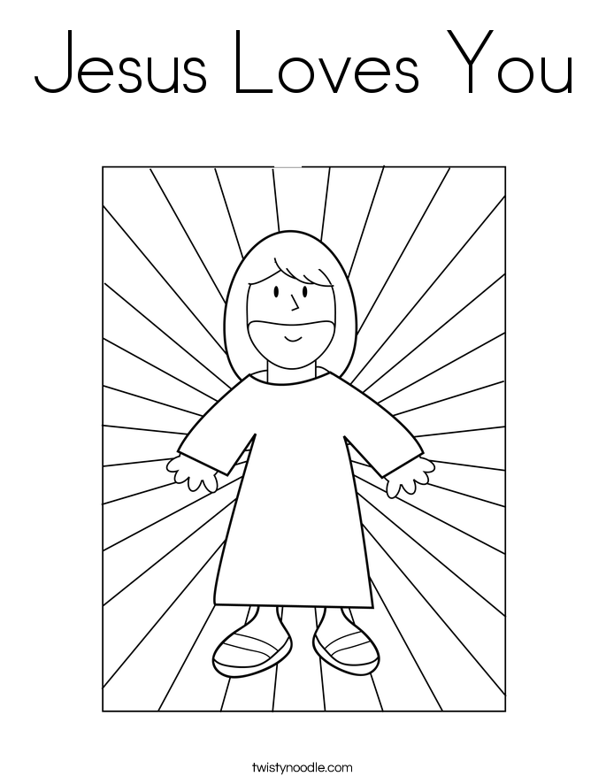 jesus loves you coloring pages - photo#18
