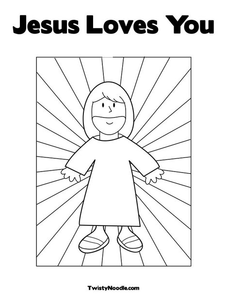 images jesus loves you coloring page