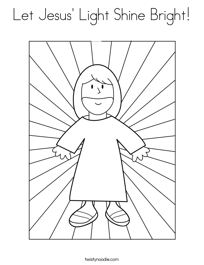 Let Your Light Shine Coloring Page Coloring Pages Let Your Light Shine Coloring Page