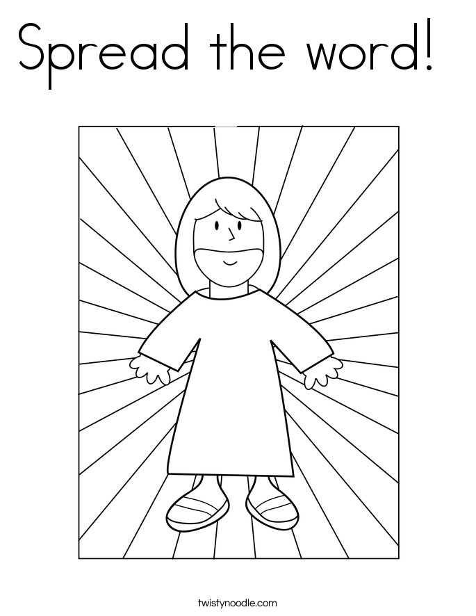 Spread the word!  Coloring Page