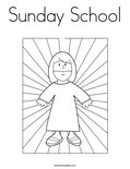 Sunday School Coloring Page