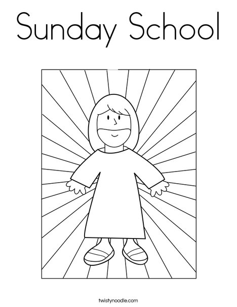 jesus with light coloring page - Sunday School Coloring Pages