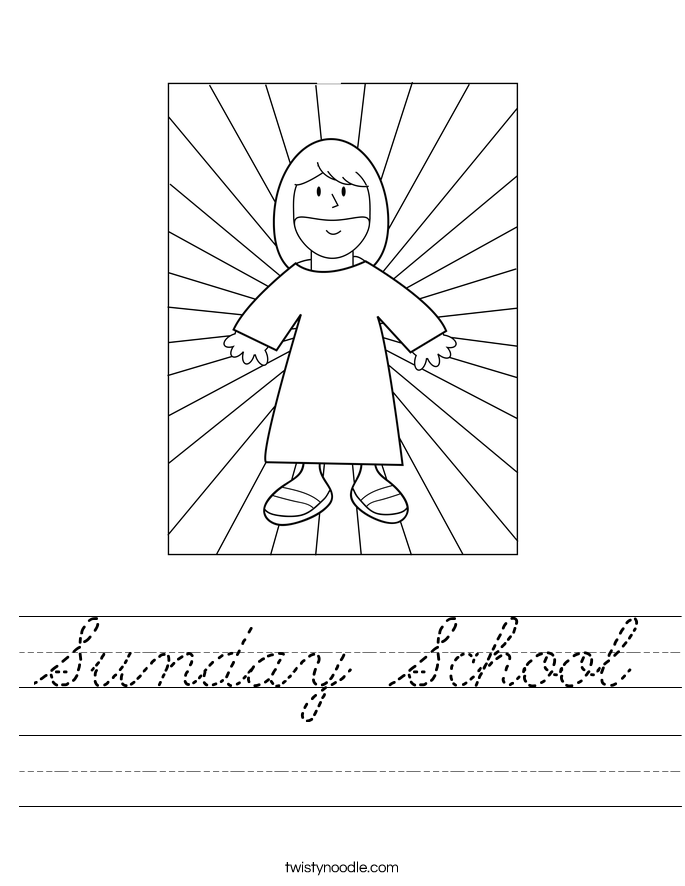 Sunday School Worksheet