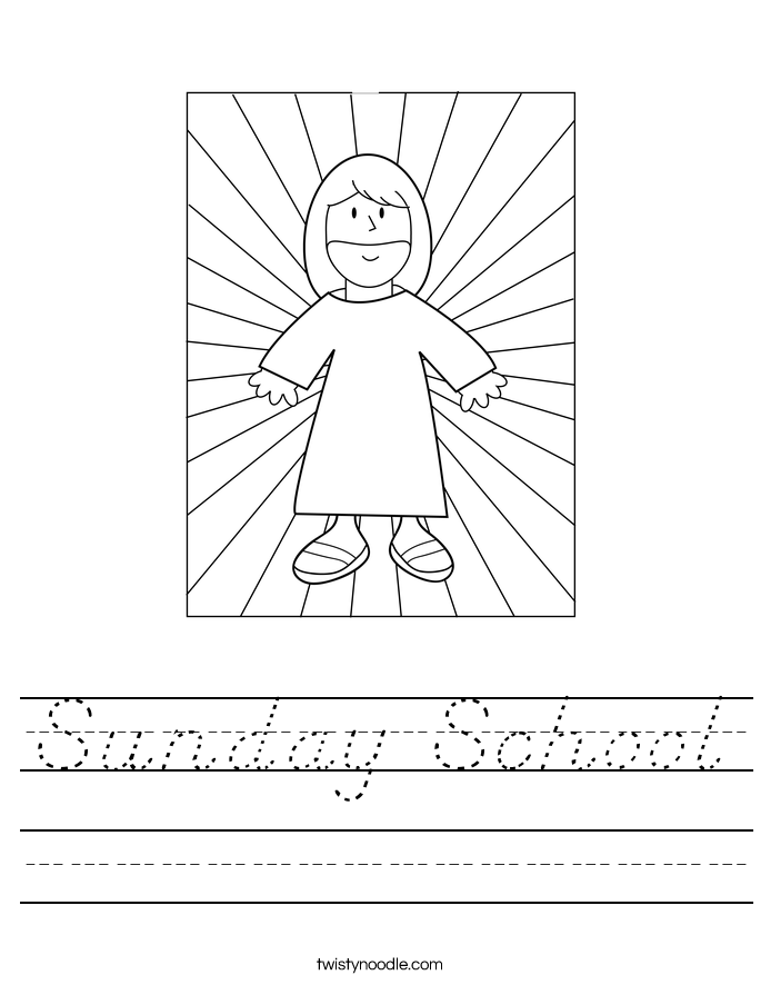 Sunday School Worksheet