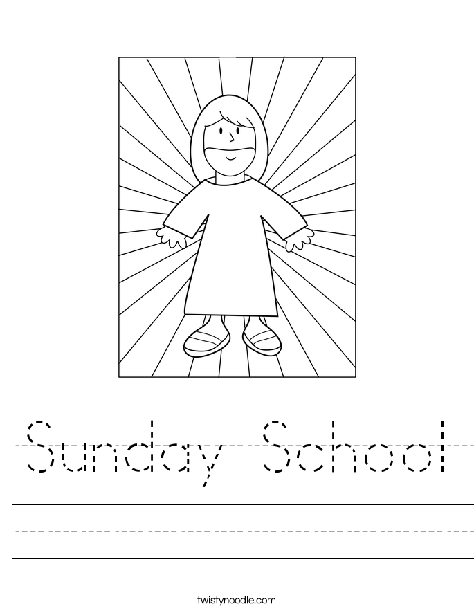 Sunday School Worksheet - Twisty Noodle