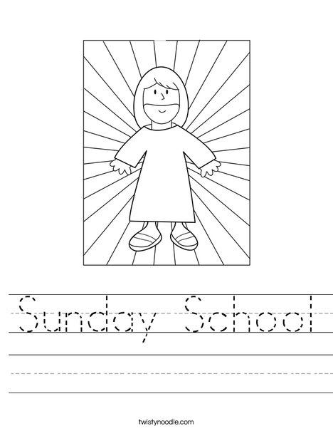 picture relating to Sunday School Printable Worksheets called Sunday Faculty Worksheet - Twisty Noodle