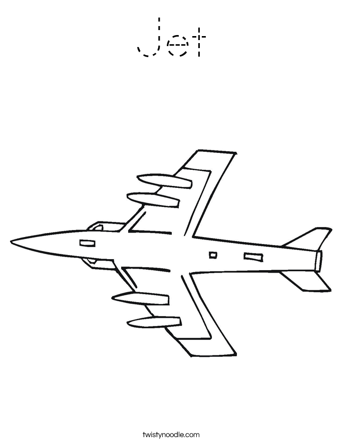 Jet Coloring Page Tracing Twisty