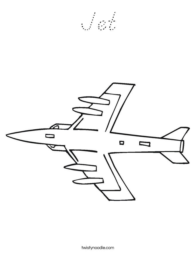 Jet Coloring Page