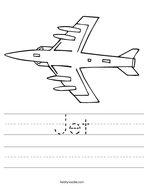Jet Handwriting Sheet