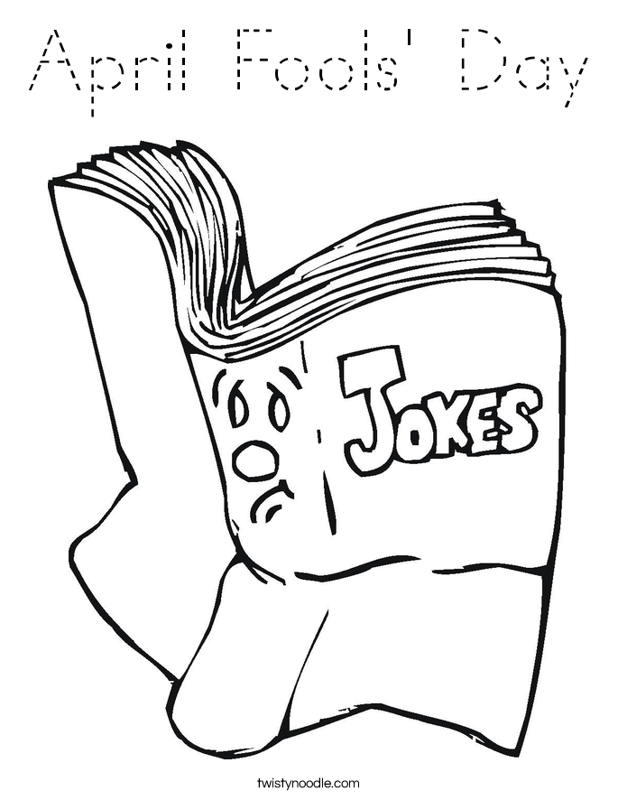 April Fools' Day Coloring Page
