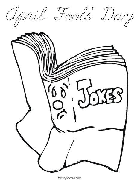 Joke Book Coloring Page