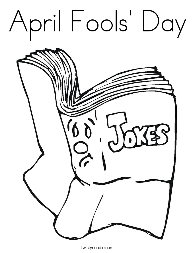 april fools day coloring page - Coloring Pages Images
