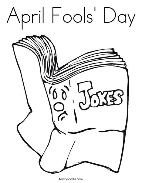 Joke Book Coloring Page