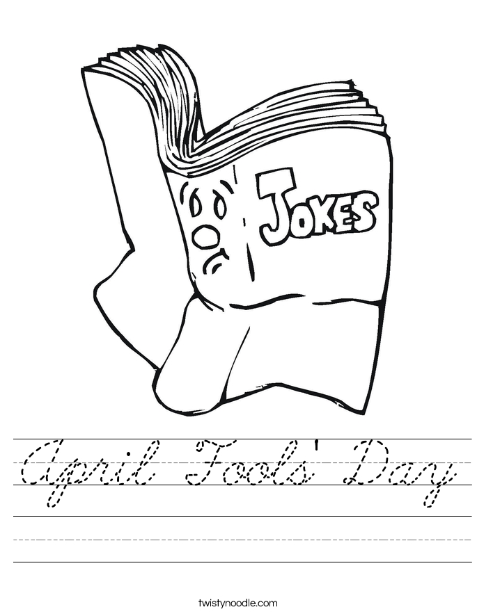 April Fools' Day Worksheet