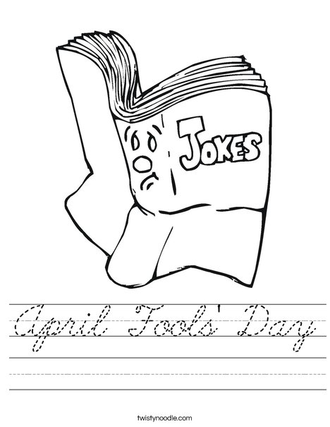 Joke Book Worksheet