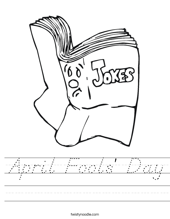 April Fools' Day Worksheet