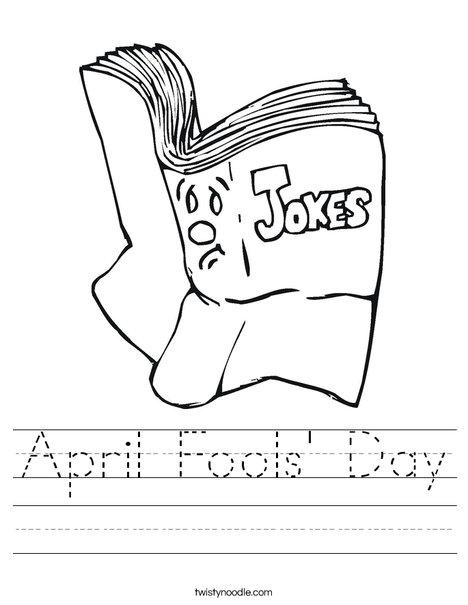 Joke Book Worksheet