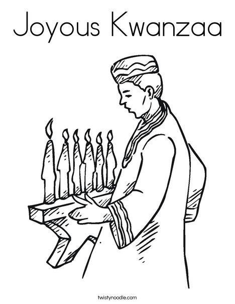 Joyous Kwanzaa Coloring Page - Twisty Noodle
