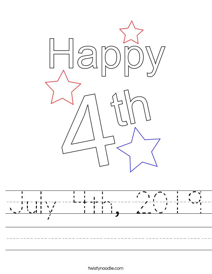 July 4th, 2019 Worksheet