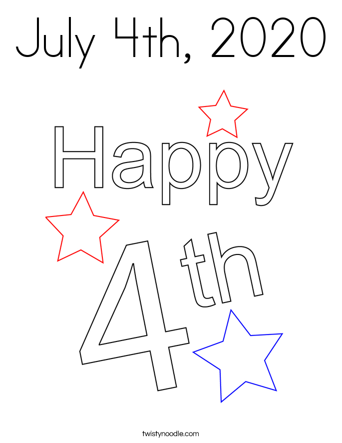 July 4th, 2020 Coloring Page