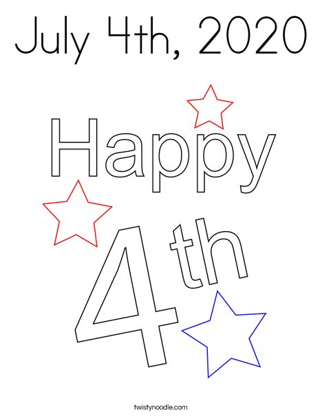 July 4th, 2019 Coloring Page